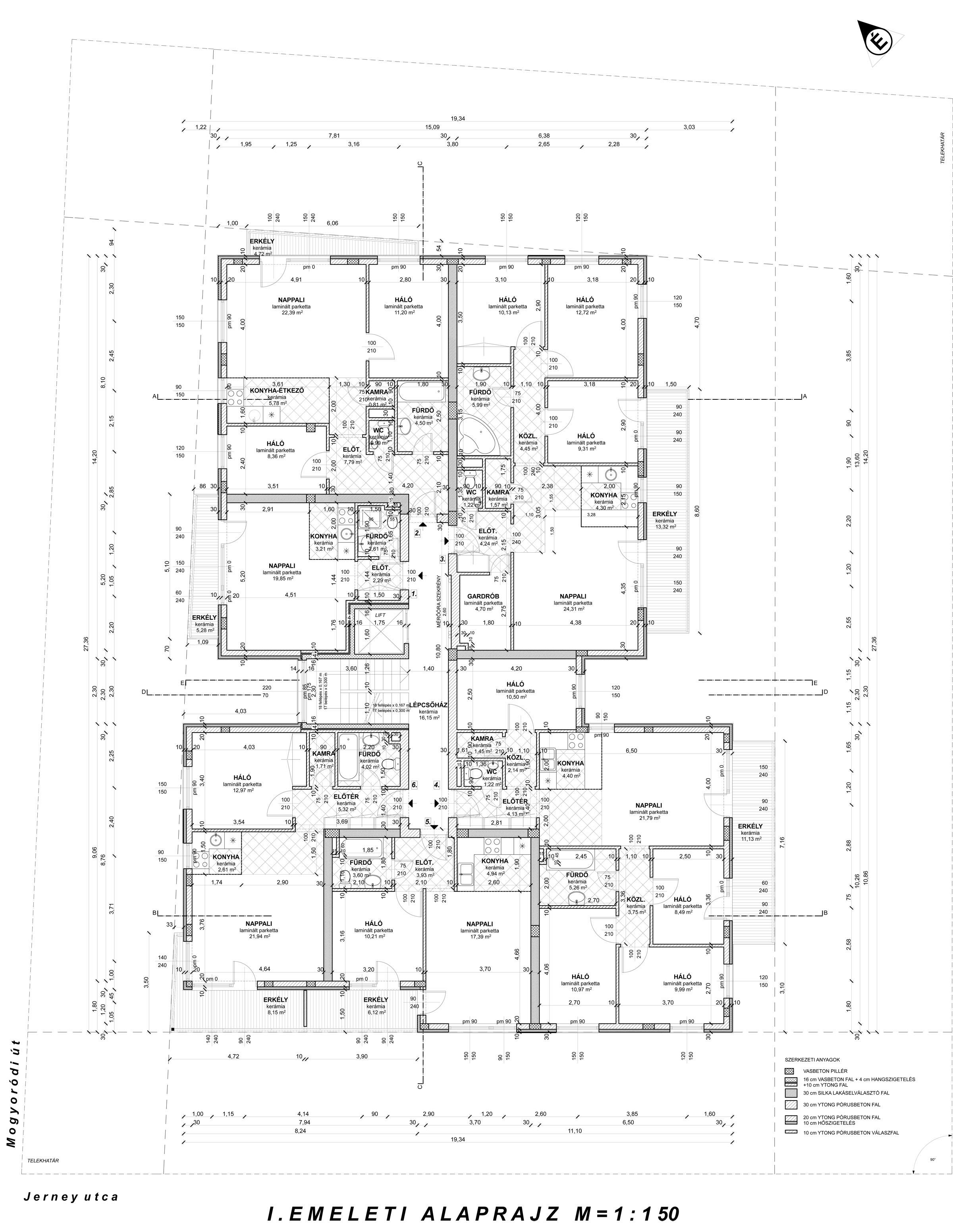 Szintalaprajz 1. emelet| Eladó energiatakarékos lakás Zuglóban