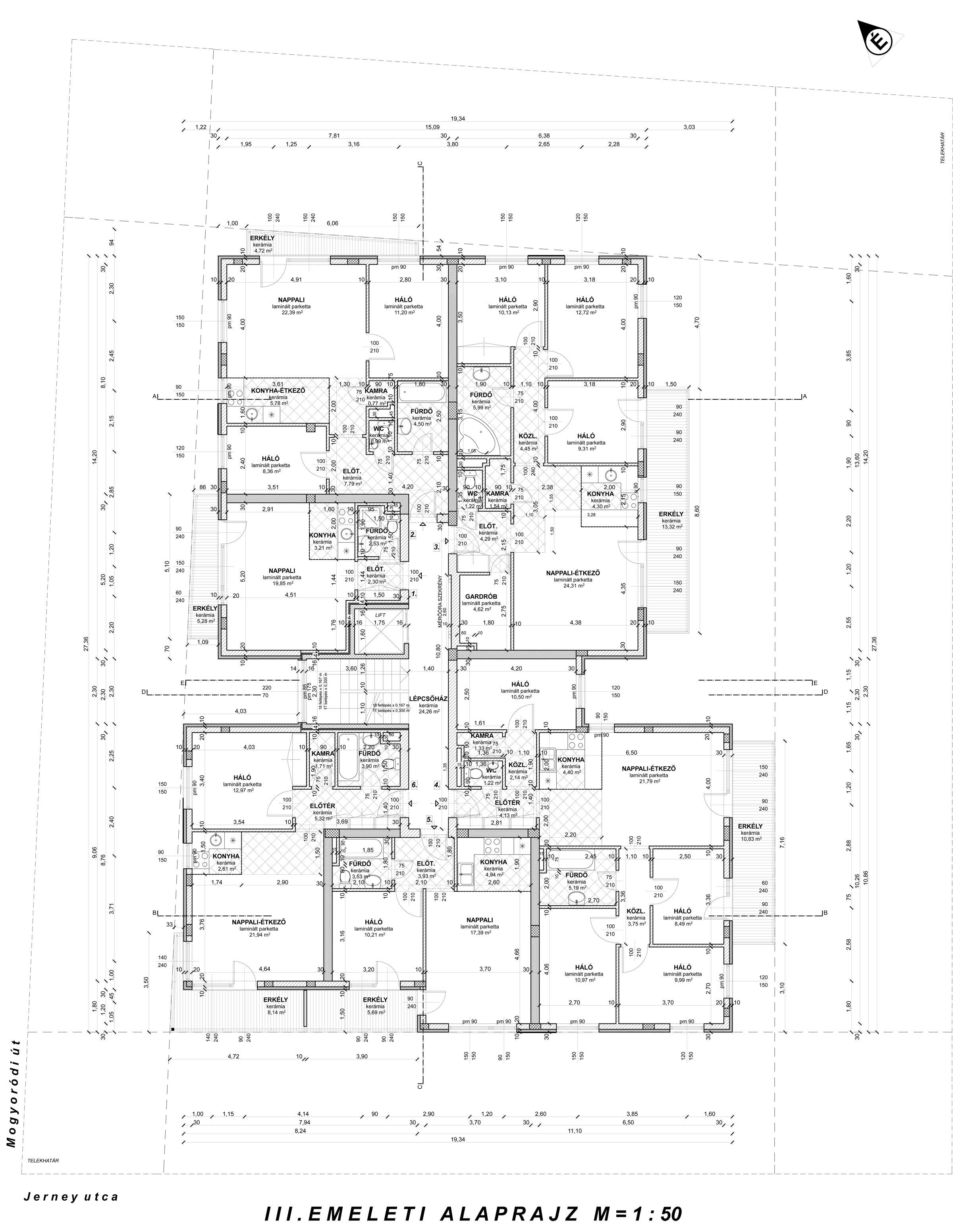 Szintalaprajz 3. emelet| Eladó energiatakarékos lakás Zuglóban