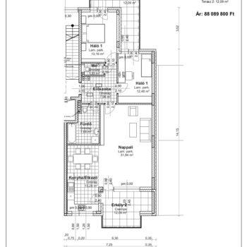 3 emelet 2 alaprajz