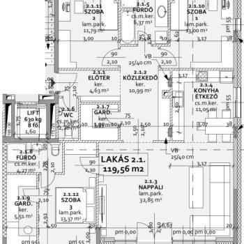 Jávor 2 emelet1_lakás_alaprajz
